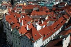 τσεχικές στέγες δημοκρατιών της Πράγας Πράγα πρωτευουσών Στοκ Φωτογραφία