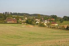 τσεχική γήινη οργωμένη πεδίο δημοκρατία επαρχίας αγροτική Στοκ εικόνα με δικαίωμα ελεύθερης χρήσης
