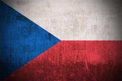 τσεχική δημοκρατία σημαιών grunge απεικόνιση αποθεμάτων