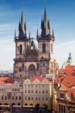 τσεχική δημοκρατία της Πράγας καθεδρικών ναών tyn Στοκ Φωτογραφίες