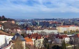 τσεχική πανοραμική όψη δημ&omicr Στοκ Εικόνες