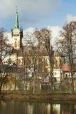 τσεχική πόλη δημοκρατιών policka Στοκ Φωτογραφίες