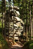 Τσεχική πόλη βράχου Στοκ φωτογραφία με δικαίωμα ελεύθερης χρήσης