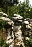 Τσεχική πόλη βράχου Στοκ εικόνα με δικαίωμα ελεύθερης χρήσης