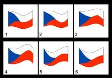 Τσεχική σημαία ζωτικότητας Στοκ φωτογραφία με δικαίωμα ελεύθερης χρήσης