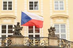 τσεχική σημαία Στοκ φωτογραφίες με δικαίωμα ελεύθερης χρήσης