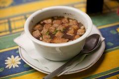 τσεχική σούπα σκόρδου Στοκ Εικόνες