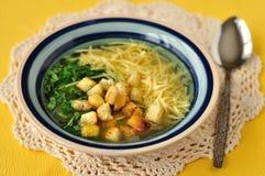 Σούπα σκόρδου Στοκ Εικόνες