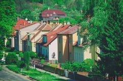 Τσεχική του χωριού οδός Στοκ φωτογραφία με δικαίωμα ελεύθερης χρήσης