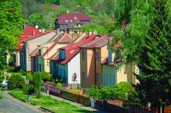 Τσεχική του χωριού οδός Στοκ Εικόνες