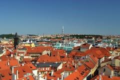 τσεχική όψη δημοκρατιών της Ευρώπης πανοραμική Πράγα Στοκ Φωτογραφίες