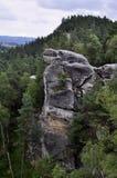 Τσεχικοί Βοημίας βράχοι Klokoci παραδείσου Στοκ Εικόνα