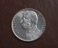 τσεχικό ασήμι νομισμάτων Στοκ εικόνα με δικαίωμα ελεύθερης χρήσης