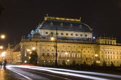 τσεχικό εθνικό θέατρο στοκ εικόνες