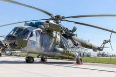 Τσεχικό ελικόπτερο μεταφορών Πολεμικής Αεροπορίας mi-171Sh Στοκ Φωτογραφίες