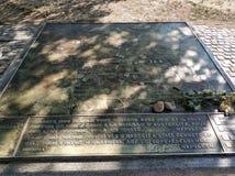 Τσεχικό ύφασμα του u Brna Slavkov Austerlitz - Ο αναμνηστικός Stone της μάχης των τριών αυτοκρατόρων στοκ φωτογραφίες