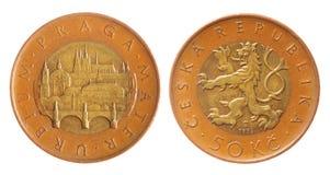 τσεχικό koruna στοκ φωτογραφία
