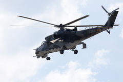 Τσεχικό Mil οπίσθιο επιθετικό ελικόπτερο Mi - 24 Στοκ Εικόνες