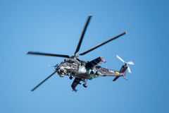 Τσεχικό Mil mi-24 οπίσθιο επιθετικό ελικόπτερο Στοκ φωτογραφίες με δικαίωμα ελεύθερης χρήσης