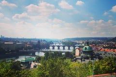 τσεχικό vitus όψης strana του ST δημοκρατιών της Πράγας mala λόφων καθεδρικών ναών petrzin Στοκ φωτογραφίες με δικαίωμα ελεύθερης χρήσης