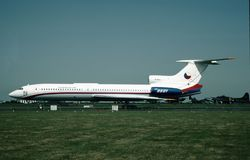 Τσεχοσλοβάκικη Πολεμική Αεροπορία Tupolev TU-154b-2 0601 ΣΟ 84A601 Στοκ Φωτογραφία