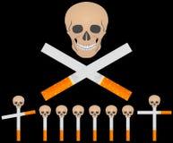 τσιγάρα νεκροταφείων Στοκ Εικόνες