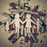 Τσιγάρα που καταστρέφουν την οικογένεια Στοκ Εικόνες