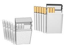 Τσιγάρα σε ένα πακέτο διανυσματική απεικόνιση