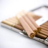τσιγάρα τσιγάρων περίπτωση& Στοκ Φωτογραφία