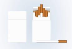 τσιγάρο Διανυσματικό κενό κιβώτιο συσκευασίας πακέτων των τσιγάρων Στοκ Φωτογραφία