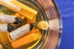 Τσιγάρο που ενυδατώνεται στο νερό Στοκ φωτογραφία με δικαίωμα ελεύθερης χρήσης