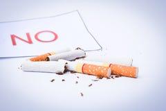Τσιγάρο χωρίς τη σύσταση Στοκ φωτογραφία με δικαίωμα ελεύθερης χρήσης