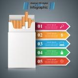 Τσιγάρο, vaper, καπνός - επιχείρηση infographic διανυσματική απεικόνιση