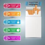 Τσιγάρο, vaper, καπνός - επιχείρηση infographic ελεύθερη απεικόνιση δικαιώματος