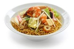 τσιγαρισμένο μπριζόλα noodles suey Στοκ εικόνα με δικαίωμα ελεύθερης χρήσης