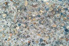 Τσιμέντο που αναμιγνύεται με τη μικρή πέτρα, το υπόβαθρο αμμοχάλικου και τη σύσταση Στοκ Φωτογραφίες