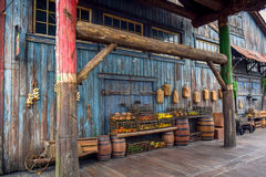 ΤΣΙΜΠΑ, ΙΑΠΩΝΙΑ - ΤΟ ΜΆΙΟ ΤΟΥ 2016: Φρούτα στο καλάθι σε ένα παλαιό αρχαίο χωριό στη χαμένη του δέλτα περιοχή ποταμών στο Τόκιο D Στοκ Εικόνες