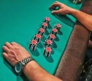 Τσιπ για το πόκερ στοκ εικόνες