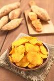 Τσιπ γλυκών πατατών Στοκ Εικόνες