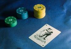 Τσιπ και πλακατζής πόκερ Στοκ φωτογραφίες με δικαίωμα ελεύθερης χρήσης