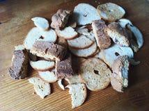 Τσιπ και cantucci ψωμιού Στοκ εικόνα με δικαίωμα ελεύθερης χρήσης