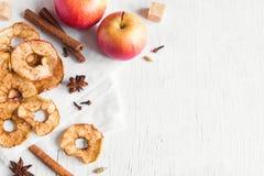 Τσιπ κανέλας της Apple Στοκ φωτογραφία με δικαίωμα ελεύθερης χρήσης