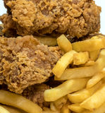 τσιπ κοτόπουλου Στοκ Εικόνες