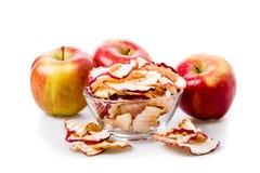 τσιπ μήλων που απομονώνονται Στοκ εικόνα με δικαίωμα ελεύθερης χρήσης