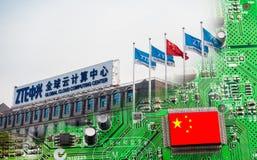 Τσιπ που κατασκευάζονται στην Κίνα Στοκ φωτογραφίες με δικαίωμα ελεύθερης χρήσης