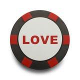 Τσιπ πόκερ αγάπης Στοκ Φωτογραφίες