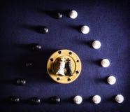 Τσιπ σκακιού και πόκερ Στοκ Φωτογραφία