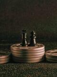 Τσιπ σκακιού και πόκερ Στοκ φωτογραφία με δικαίωμα ελεύθερης χρήσης