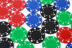 Τσιπ χαρτοπαικτικών λεσχών Στοκ εικόνες με δικαίωμα ελεύθερης χρήσης