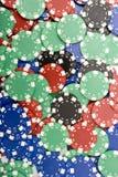 τσιπ χαρτοπαικτικών λεσ&chi Στοκ εικόνα με δικαίωμα ελεύθερης χρήσης